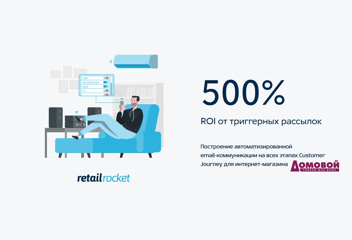 Как получать ROI больше 500% с помощью автоматизированной email-коммуникации: кейс «Домовой»